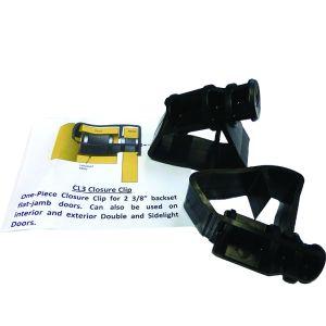 "910-059 Closure clip for flat jambs, 500/box, 2-3/8"" backset"