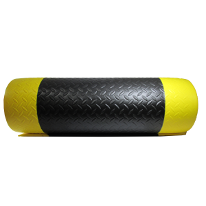 SUP01 Anti-Fatigue 2' x 6' Black and yellow mat