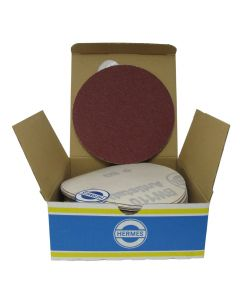 "HER51155BW 5"" Sanding disc, 80 grit, 50 per box"