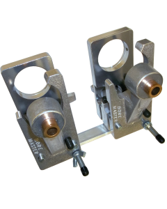 TEM202 Double bore fixture with magnets